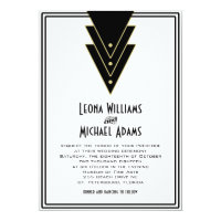 Tuxedo Modern Art Deco 5x7 Paper Invitation Card
