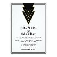 Tuxedo Modern Art Deco 5x7 Paper Invitation Card