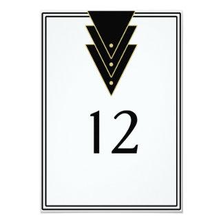 Tuxedo Modern Art Deco Table Number