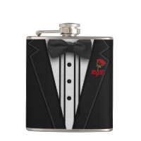Tuxedo Monogram with Rose Hip Flask