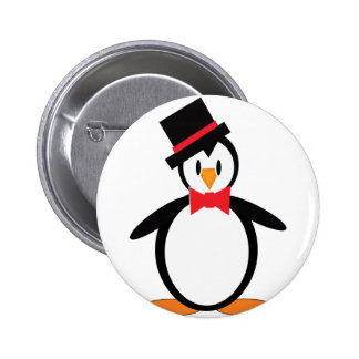 Tuxedo-Pengo Pinback Button