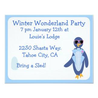 Tuxedo Penguin Winter Party Announcement