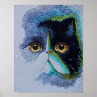 "TUXEDO PERSIAN CAT 11"" x 14"", Poster Paper (Matte)"