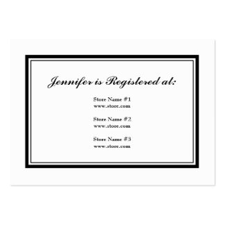 Tuxedo Registry Card in Black and White Large Business Cards (Pack Of 100)