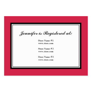 Tuxedo Registry Card in Classic Red Large Business Cards (Pack Of 100)