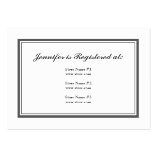 Tuxedo Registry Card in Gray Large Business Card