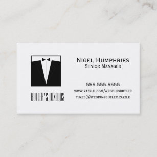 Tuxedo wedding business cards zazzle tuxedo retail business card colourmoves