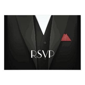 Tuxedo RSVP 5x7 Paper Invitation Card