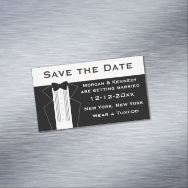 Professional Business Tuxedo Save The Date Magnetic Cards