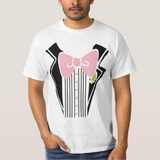 Tuxedo Shirt - Pink Tie
