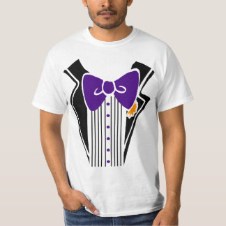 Tuxedo Shirt Purple Tie