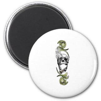 tuxedo skull fridge magnet