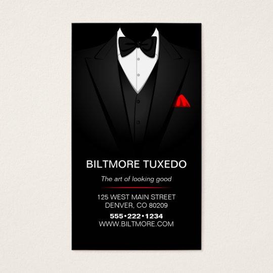Tuxedo Suit Mens Clothing Modern Clean Business Card | Zazzle.com