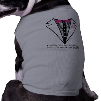 tuxedo tee dog clothes