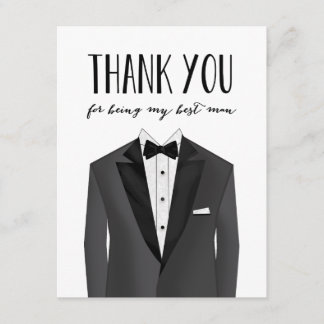 Tuxedo Thank You Best Man | Groomsman