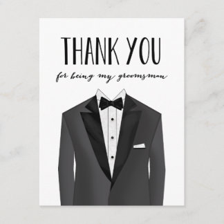 Tuxedo Thank You Groomsman | Groomsman