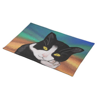Tuxedo the Cat American Mojo Pillow Placemat