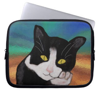 Tuxedo the Cat Laptop Sleeve