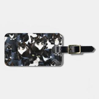 Tuxedo Travel Cat Madness Bag Tags