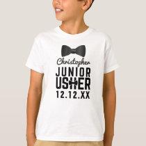 Tuxedo Wedding Bow Tie  Junior Usher T-Shirt