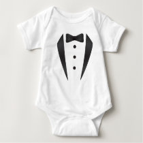 Tuxedo wedding gifts and props for groom baby bodysuit