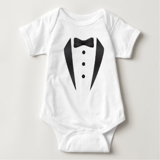 Tuxedo wedding gifts and props for groom baby bodysuit