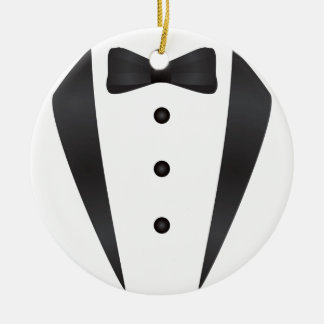 Tuxedo wedding gifts and props for groom ceramic ornament
