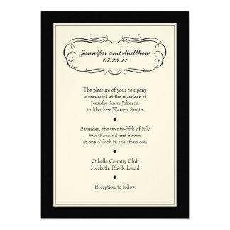 Tuxedo Wedding Invitation on Cream Paper