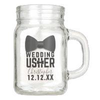 Tuxedo Wedding Usher Name Wedding Mason Jar