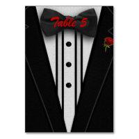 Tuxedo with Bow Tie Monogram Card