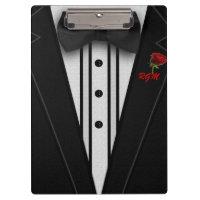 Tuxedo with Bow Tie Monogram Clipboard