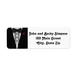 Tuxedo with Bow Tie Monogram Label