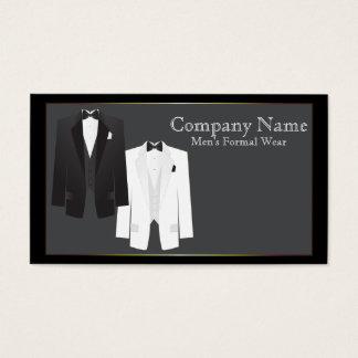 Tuxedos Men's Formal Wear Business Card