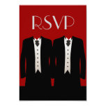 "Tuxedos RSVP 3.5"" X 5"" Invitation Card"