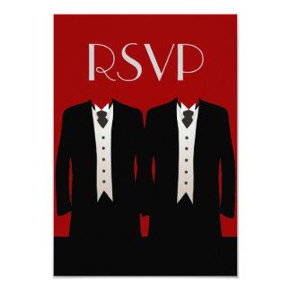 Tuxedos RSVP 3.5x5 Paper Invitation Card