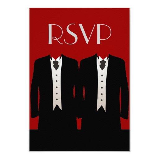 Tuxedos RSVP Card