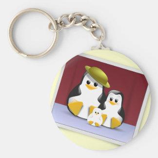 Tux's Family Keychain