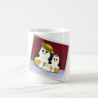 Tux's Family Classic White Coffee Mug