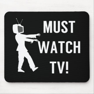 TV Addict Funny Zombie Mouse Pad