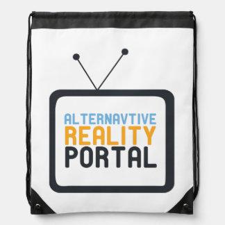 TV alternative reality portal Drawstring Bag