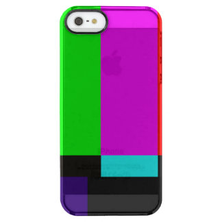 TV bars color test Clear iPhone SE/5/5s Case