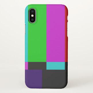 TV bars color test iPhone X Case