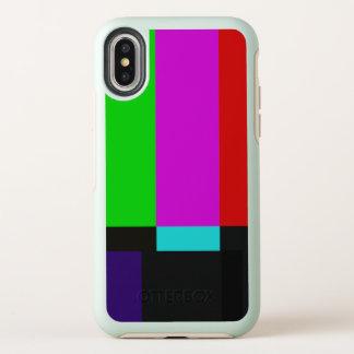 TV bars color test OtterBox Symmetry iPhone X Case
