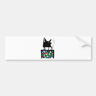 TV Cat Bumper Sticker