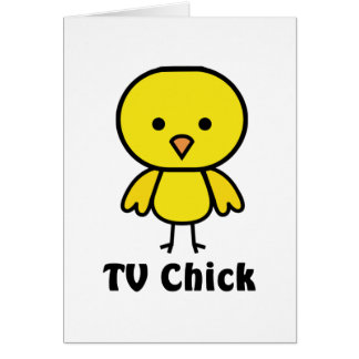 TV Chick Greeting Card
