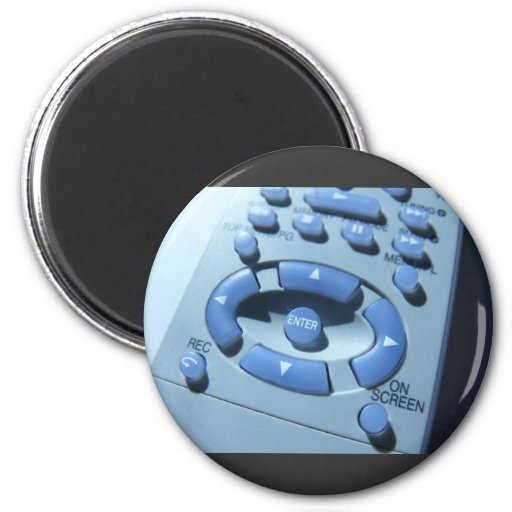 Tv Controller Macro Image Fridge Magnet