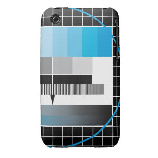 TV cyan test pattern case iPhone 3 Cover