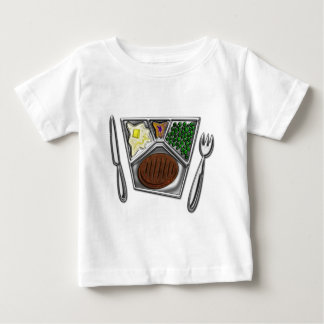 TV Dinner Knife and Spork Baby T-Shirt