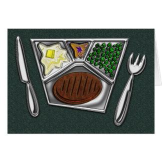 TV Dinner Knife and Spork Card
