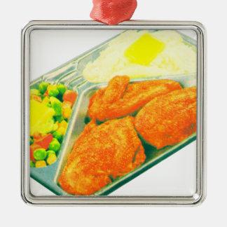 TV Dinner Metal Ornament